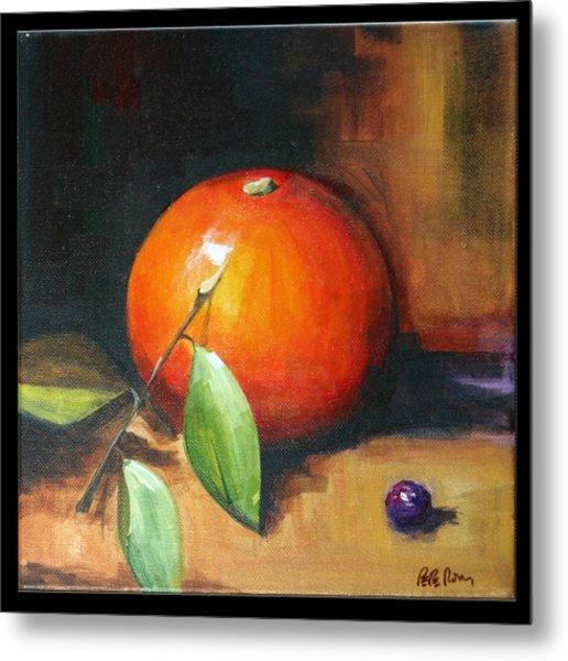 Orange And Purple Metal Print by Pepe Romero