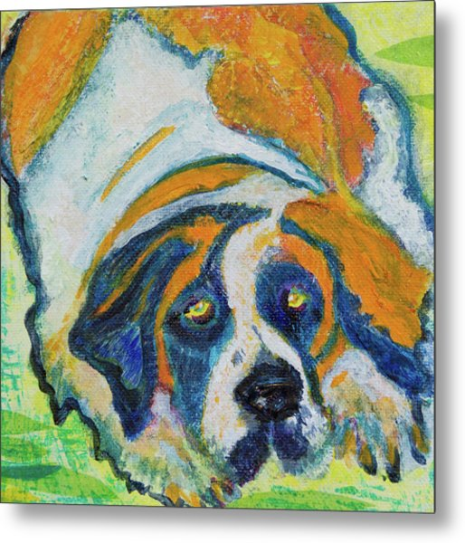 Orange Bernard Metal Print