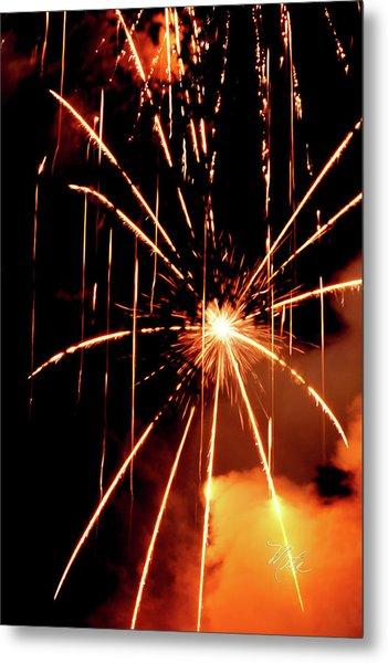Orange Chetola Fireworks Metal Print