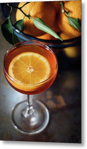 Orange Cocktail Metal Print