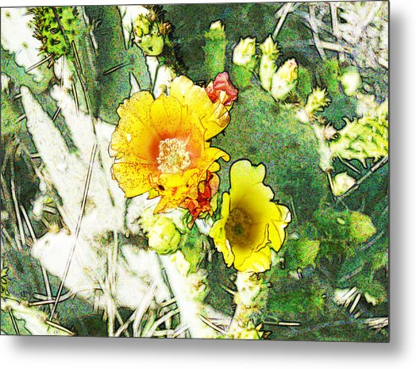 Orange Cup Wearing Fresco Metal Print by James Granberry