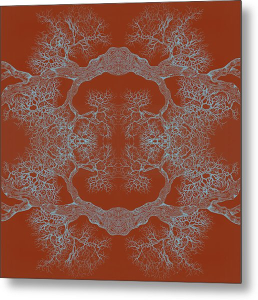 Orange Desire Tree 8 Hybrid 1 Metal Print
