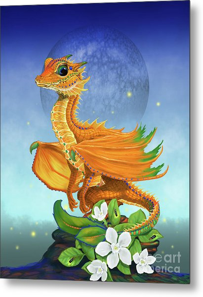 Orange Dragon Metal Print