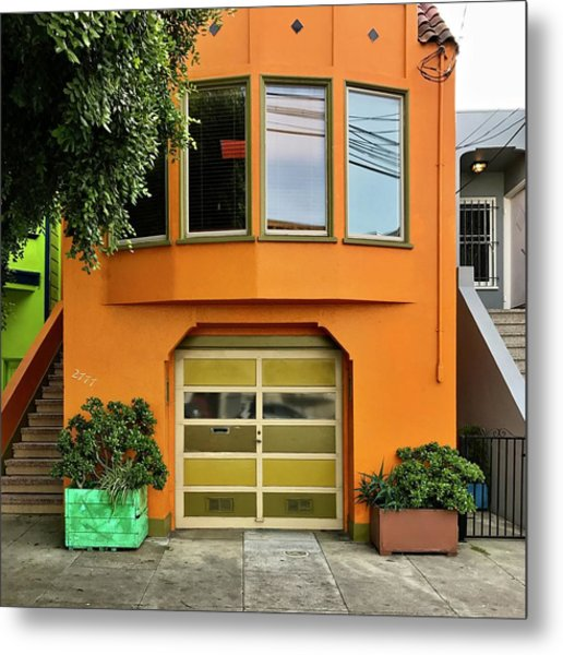 Orange House Metal Print