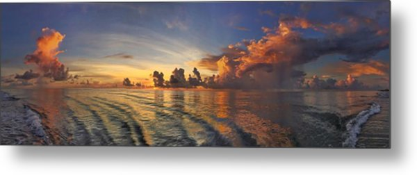 Orange Panorama Metal Print