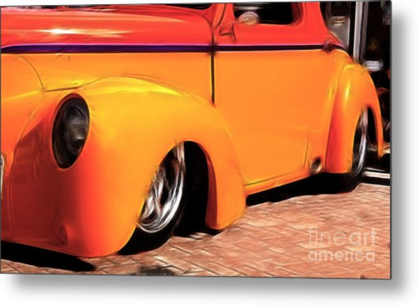 Orange Rush - 1941 Willy's Coupe Metal Print