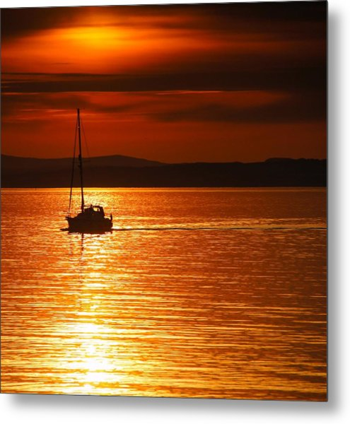 Orange Silhouette Metal Print by Nik Watt