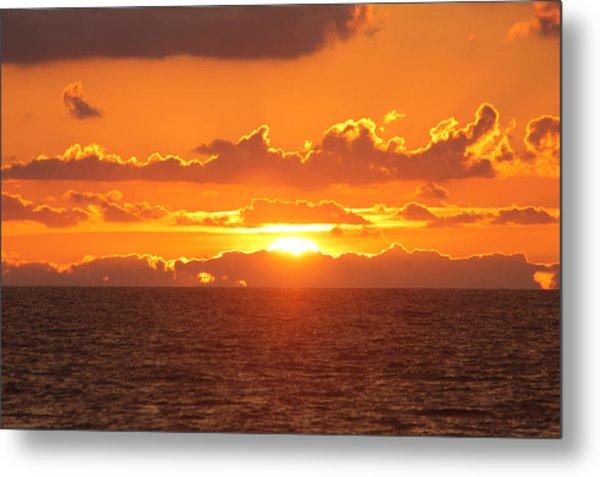 Orange Skies At Dawn Metal Print