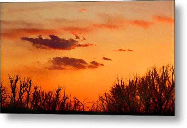 Orange Sky At Night Metal Print