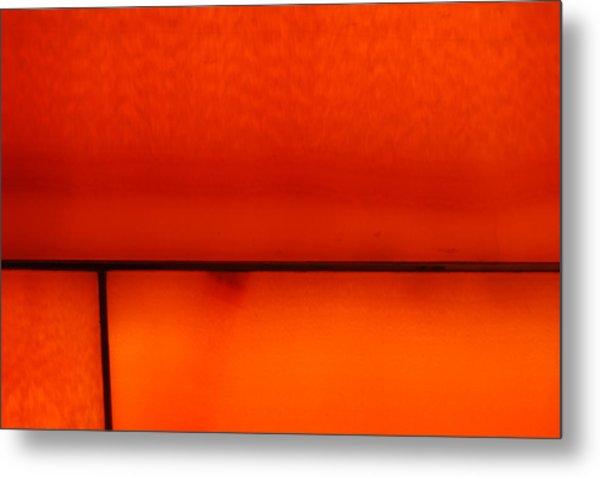 Orange Stone 4 Metal Print