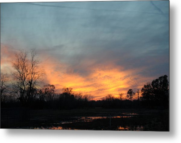 Orange Sunset Metal Print by Bill Perry