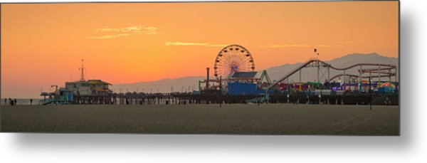 Orange Sunset - Panorama Metal Print