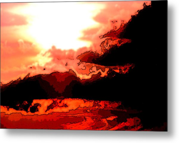Orange Sunset Metal Print by Kimberly Camacho