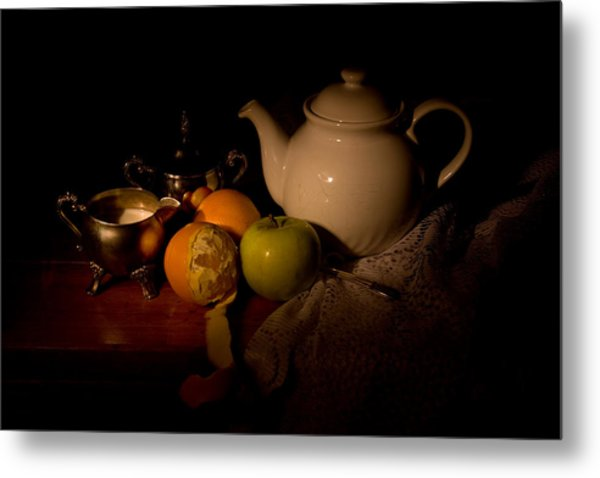 Orange Tea Metal Print