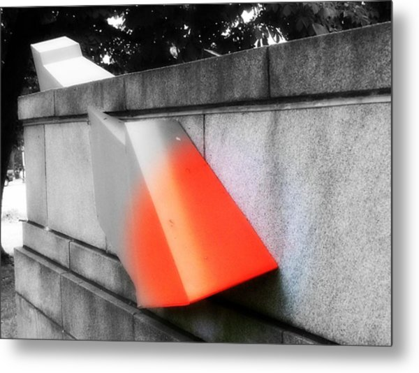 Orange Tipped Arrow Metal Print