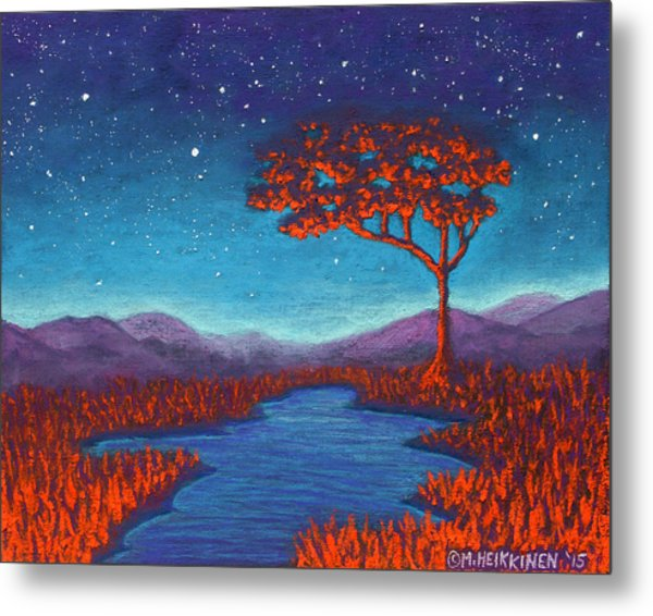 Orange Tree 01 Metal Print