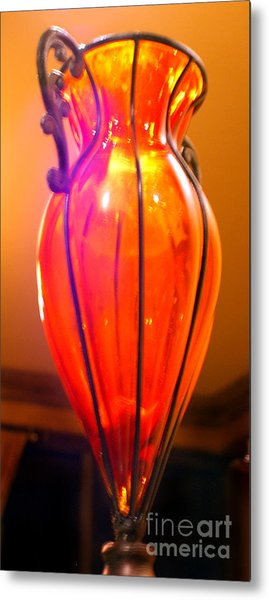 Orange Vase Metal Print by Heather S Huston