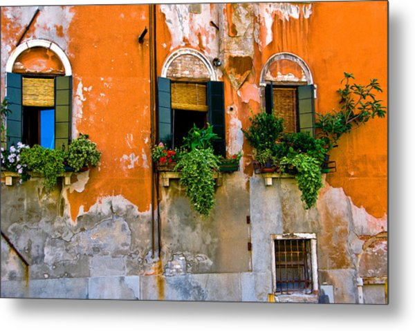 Orange Wall Metal Print