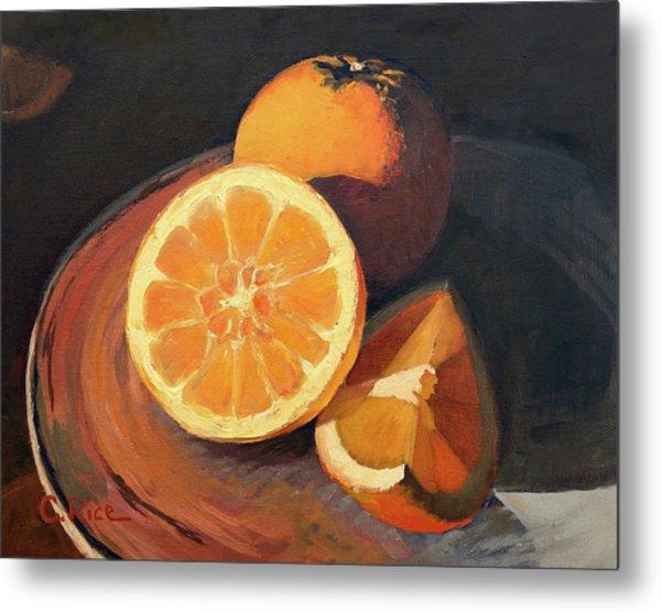 Oranges In Late Afternoon Sunlight Metal Print