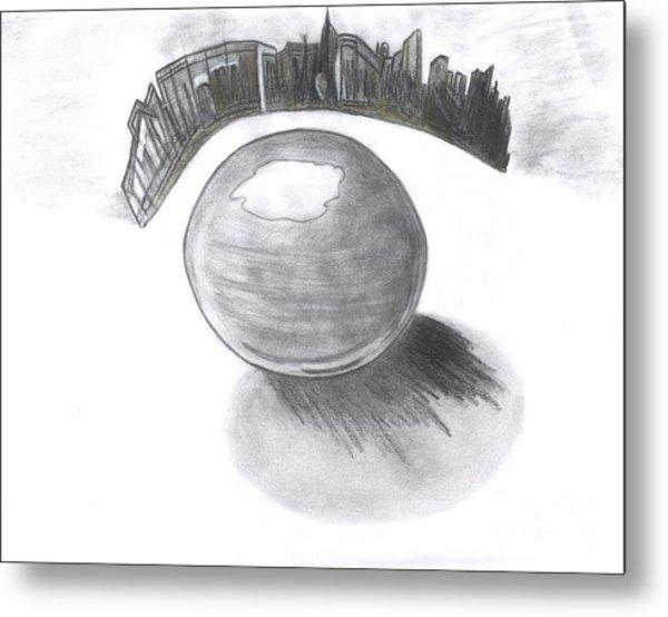 Orb Landing Metal Print