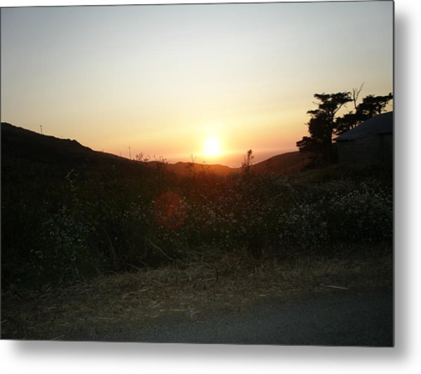 Orbs At Sunset Metal Print