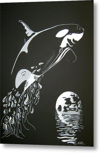Orca Sillhouette Metal Print