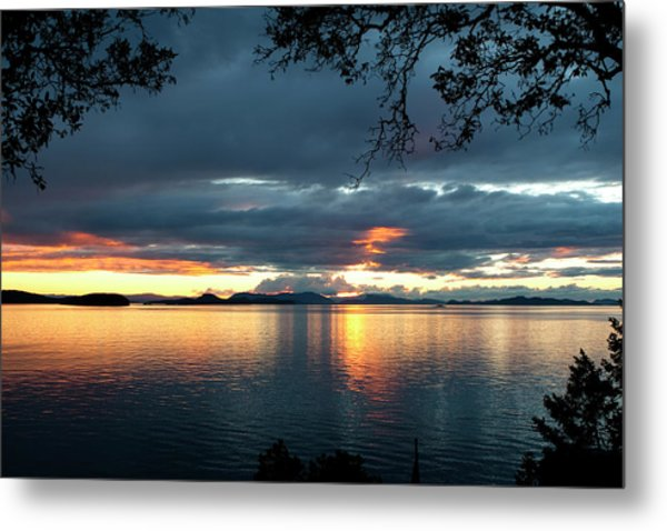 Orcas Island Sunset Metal Print