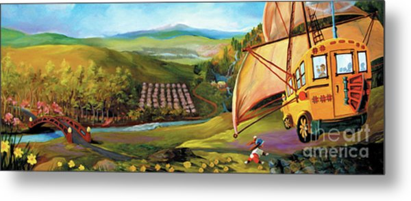 Metal Print featuring the painting Orchard Valley by Donna Hall