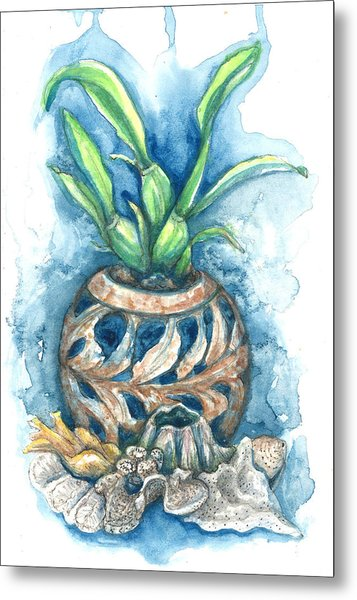 Orchid And Barnacle Metal Print