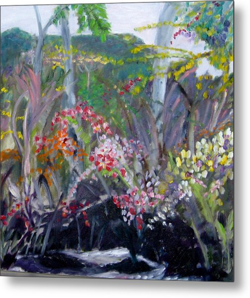 Orchid Jungle Metal Print