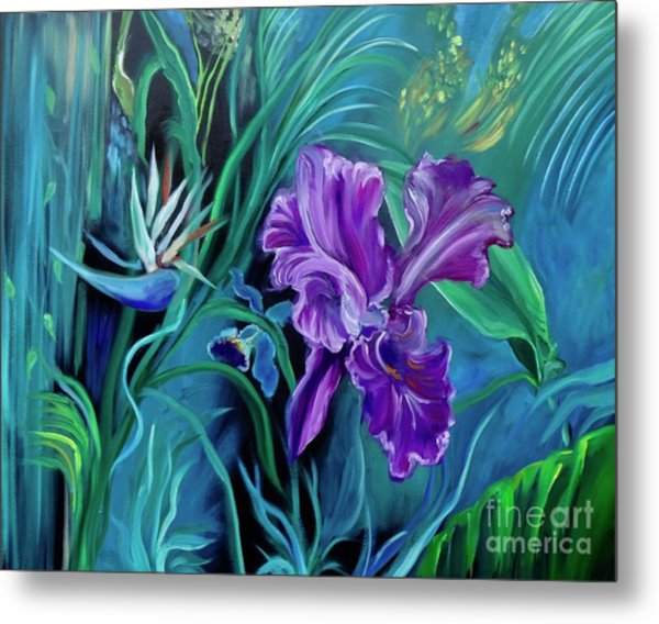 Orchid Jungle Metal Print