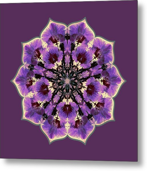 Metal Print featuring the digital art Orchid Lotus by Lynde Young