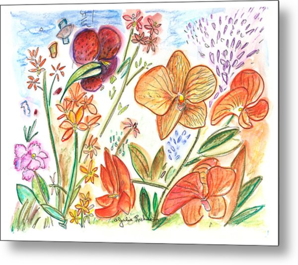 Orchid No. 9 Metal Print by Julie Richman