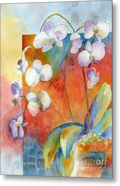 Orchids In Bend Metal Print