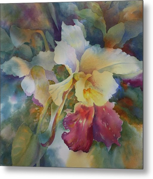 Orchidstrated Metal Print