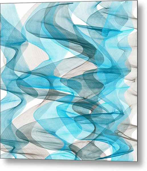 Orderly Blues And Grays Metal Print