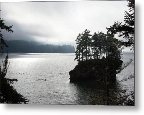 Oregon Coast Fog Metal Print