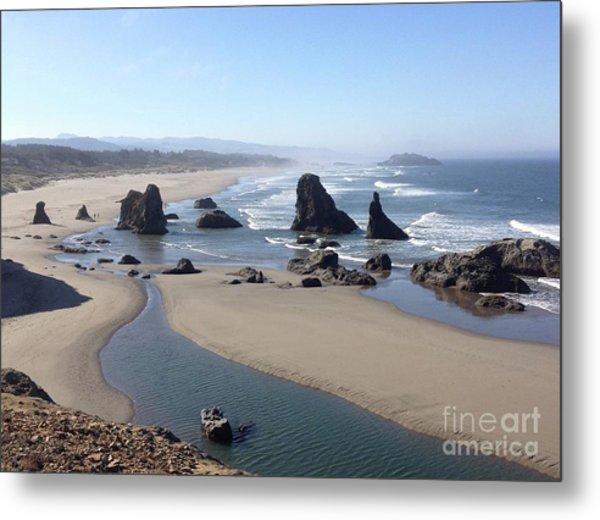 Oregon Coast Sea Stacks Metal Print
