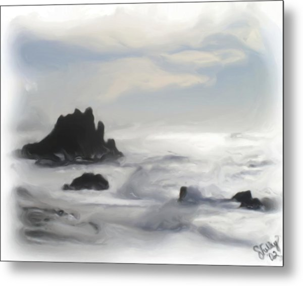 Oregon Coast Metal Print by Shelley Bain