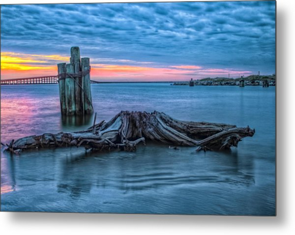 Oregon Inlet II Metal Print