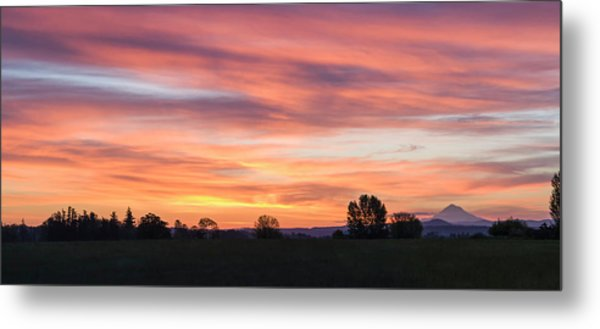 Oregon Sunrise Metal Print