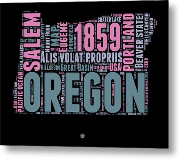 Oregon Word Cloud 2 Metal Print
