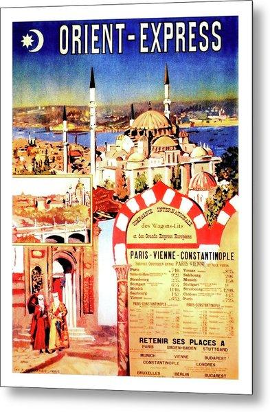 Orient Express, Istanbul, Vintage Travel Poster Metal Print