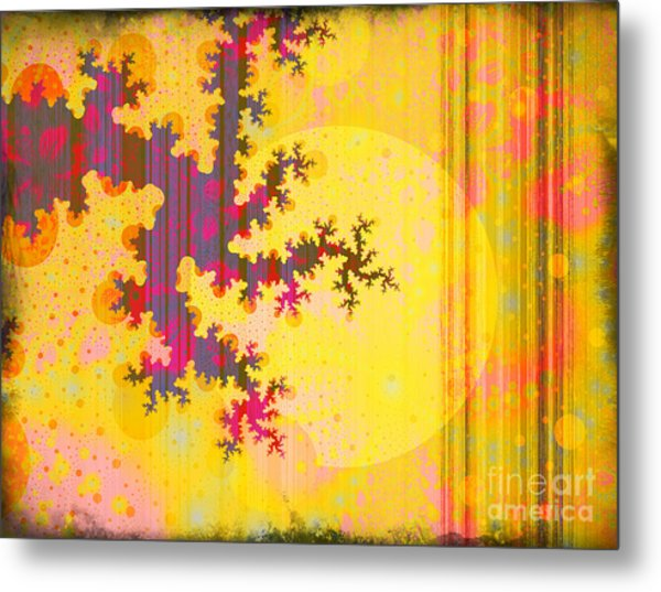Oriental Moon Behind My Courtain Metal Print