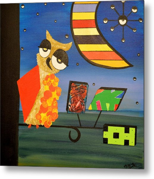 Original Acrylic Artwork By Mimi Stirn - Hoomasters Collection - Hoopicasso #410 Metal Print