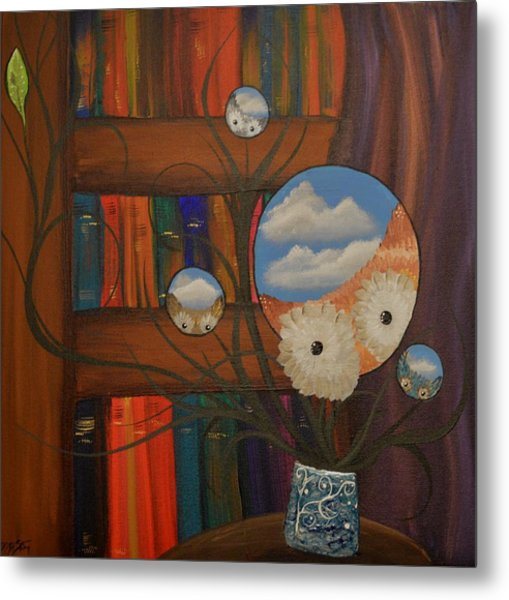 Original Artwork By Mimi Stirn - Hoomasters Collection - Hoo Magritte #411 Metal Print