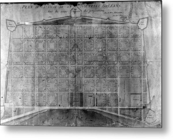 Original French Quarter Map Metal Print