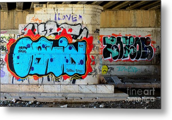 Orin        ' Graffiti ' Metal Print by Urban Artful