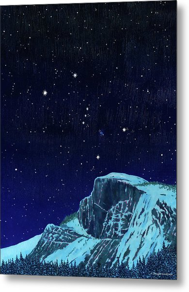 Orion Over Yosemite Metal Print