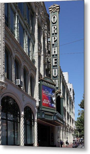 Orpheum Theatre San Francisco California 5d17997 Metal Print